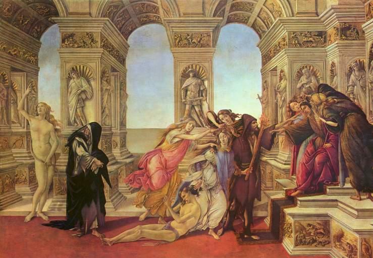 Sandro Botticelli, La Calomnie d'Apelle